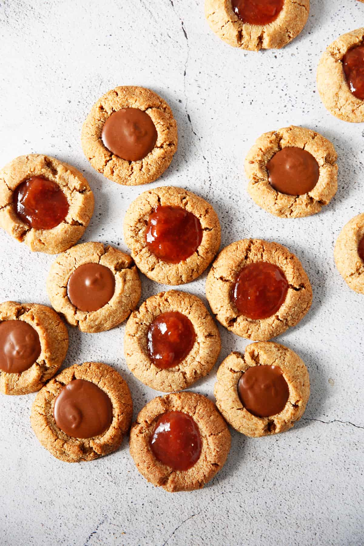 Jam thumbprint cookies.