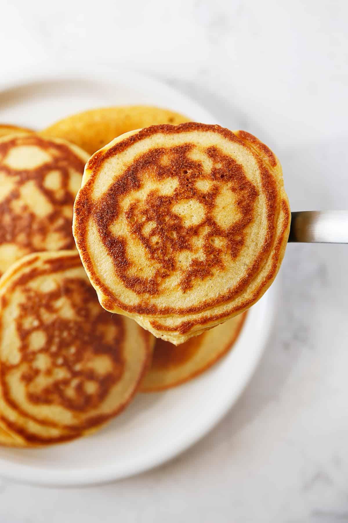 Tapioca flour pancakes on a plate.