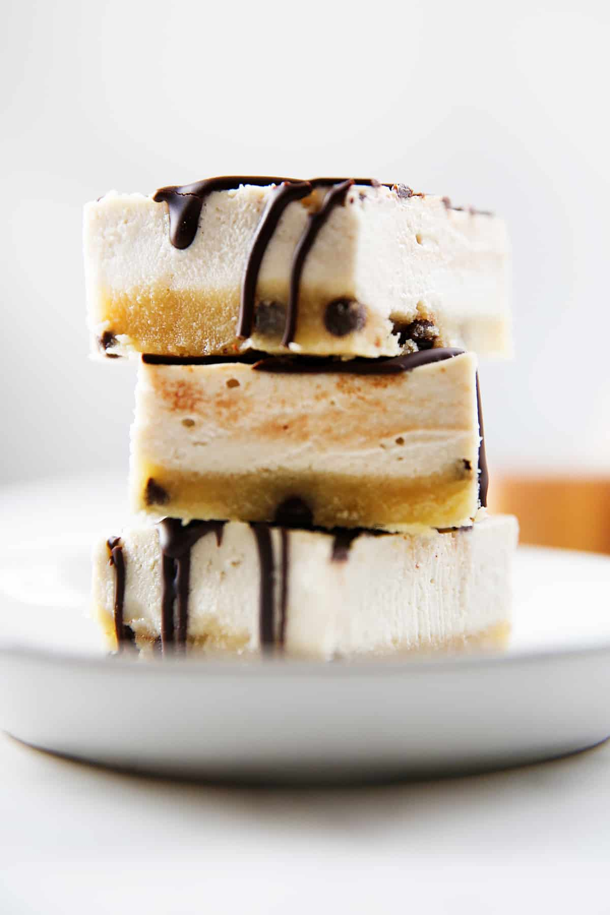 Paleo No-Bake Cookie Dough Cheesecake Bars
