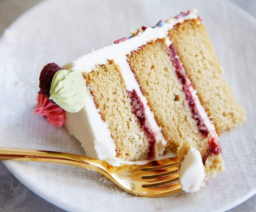 Gluten free cake slice