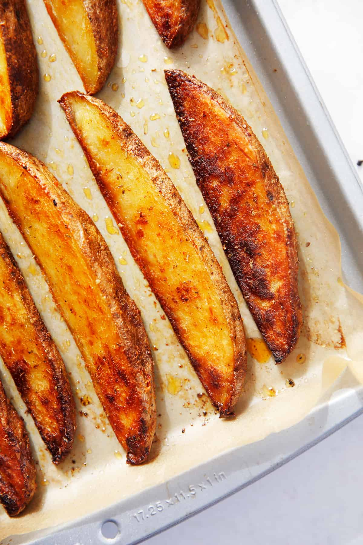 Roasted Potato Wedges on a Sheet Pan