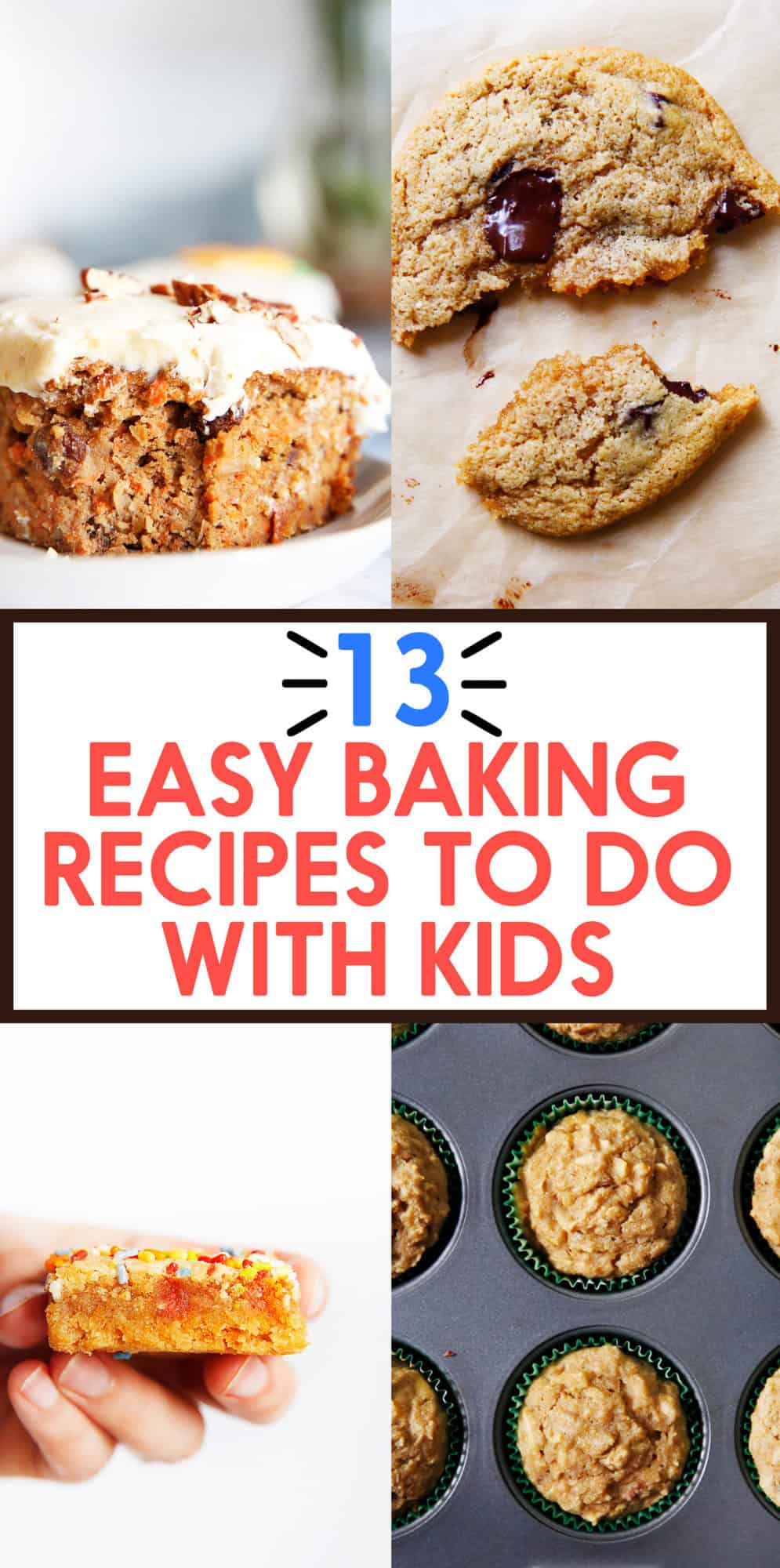 13 Easy Baking Recipes to do with Kids