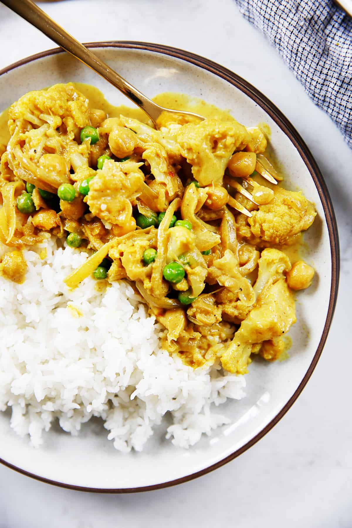 Cauliflower curry.