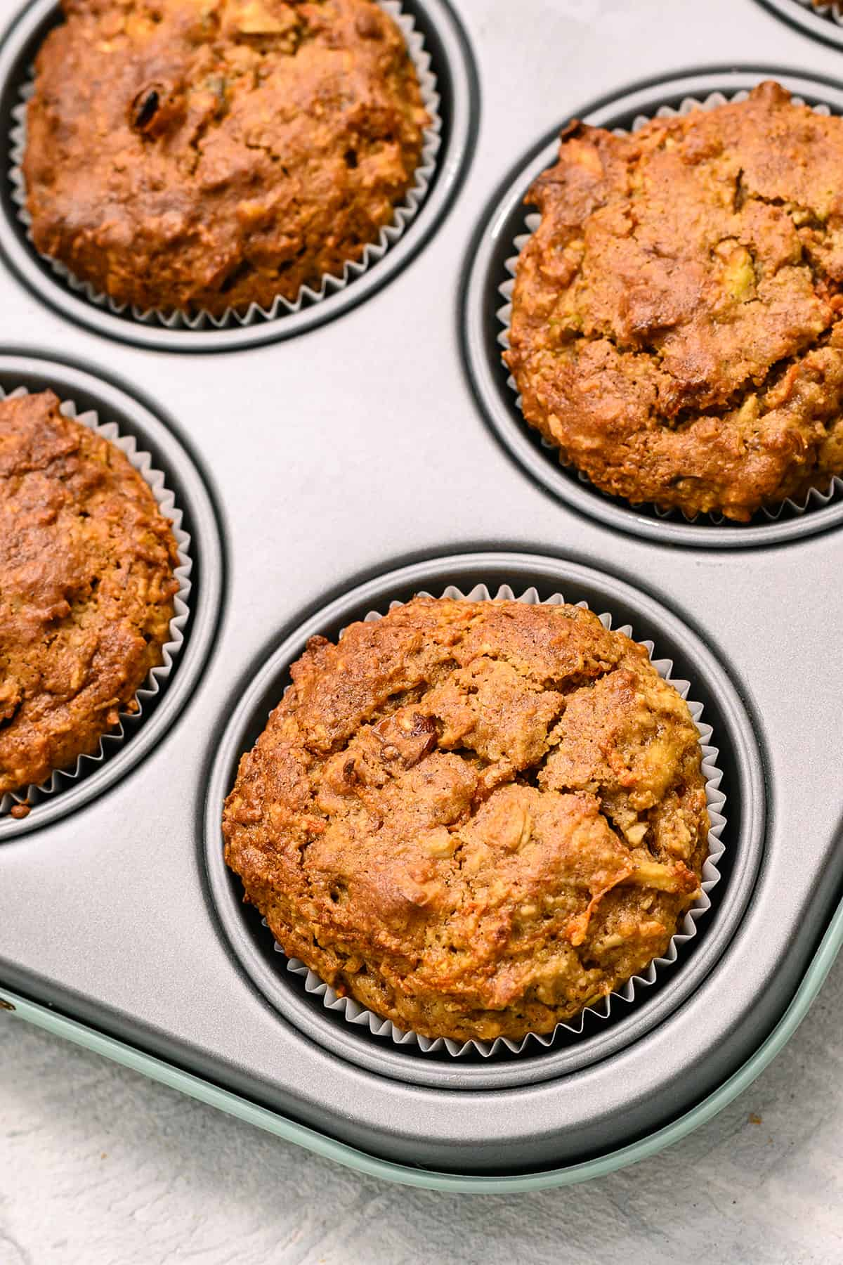 Healthy morning muffins with carrots
