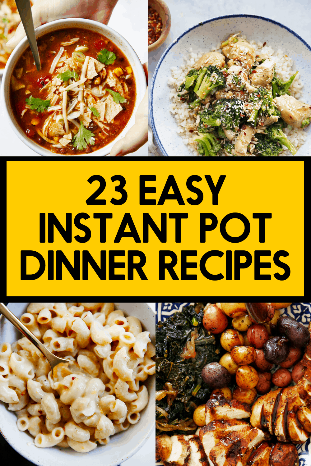 Quick Instant Pot Dinner Recipes