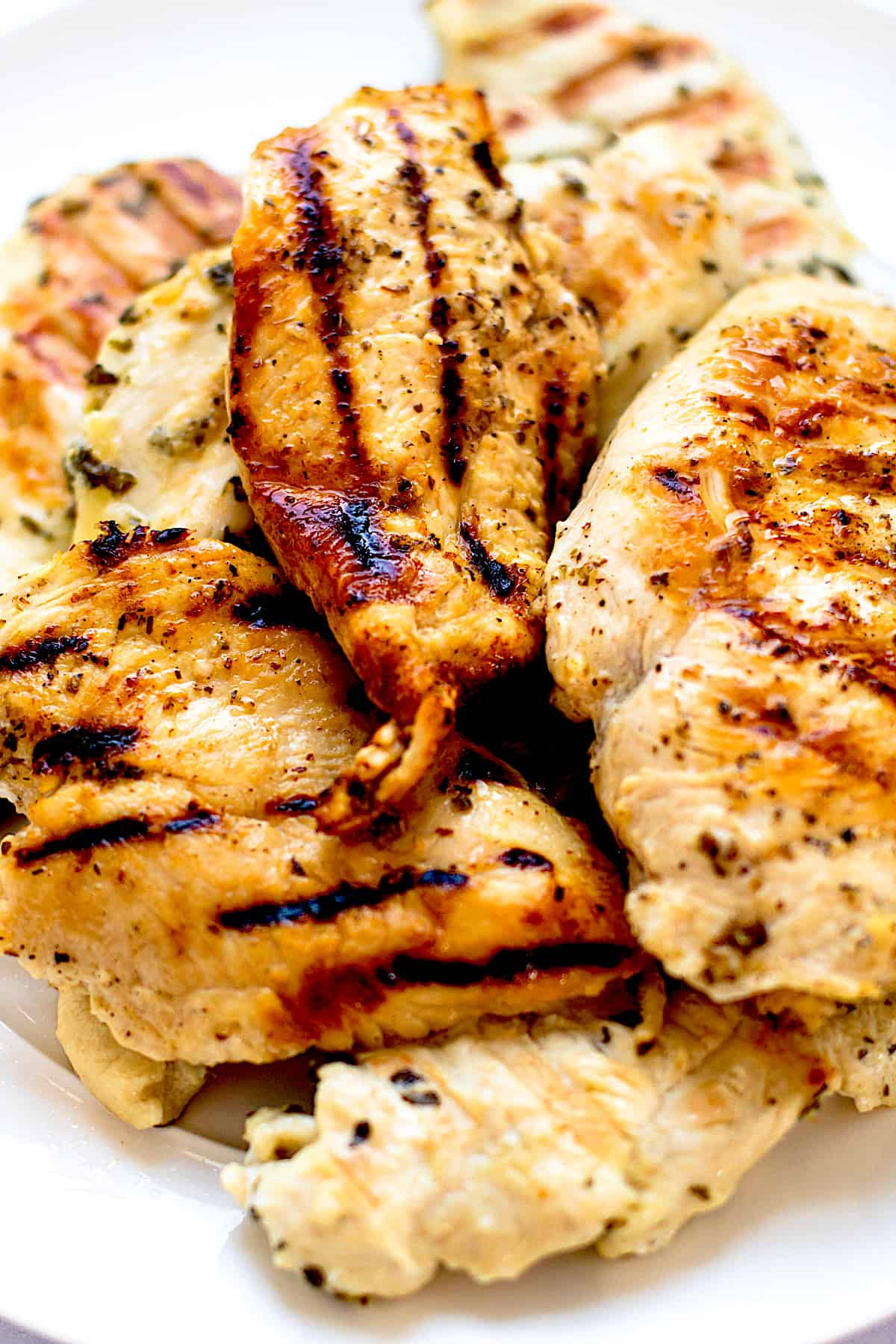Grilled marinated chicken.