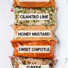 5 Chicken Marinades (Freezer-Friendly)