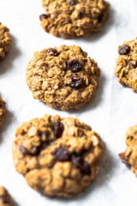 Lactation Cookies on a sheet tray.