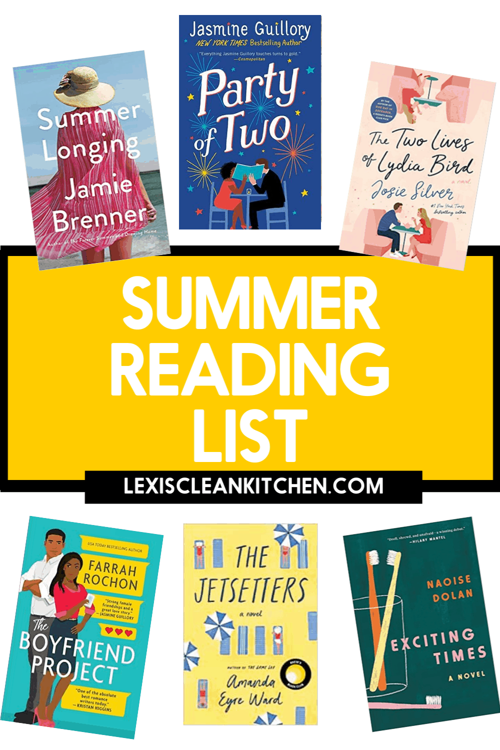 6 Book suggestions to read this summer.