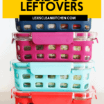 A Pinterest image for leftovers.
