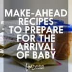 Make Ahead Recipes for Baby