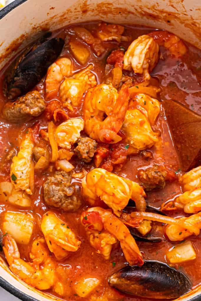 Easy cioppino stew.