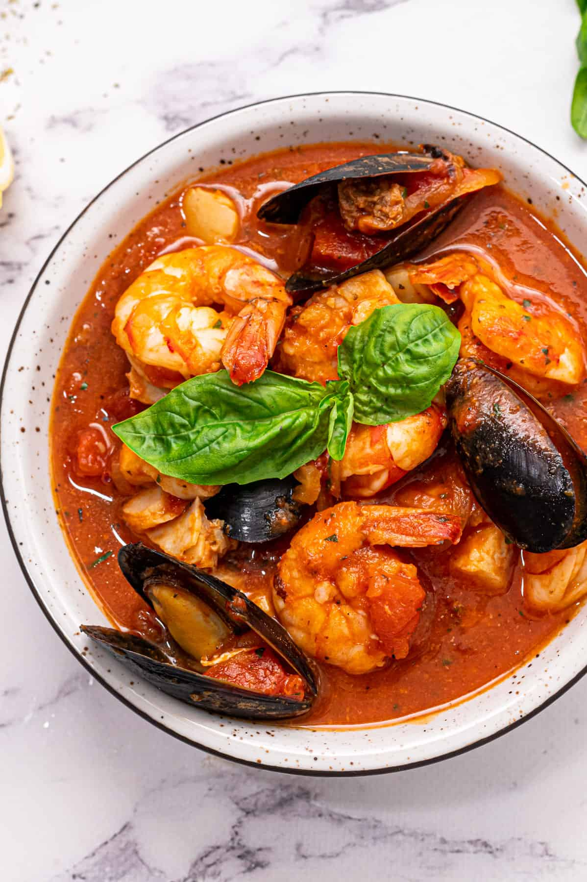 A bowl of easy cioppino.