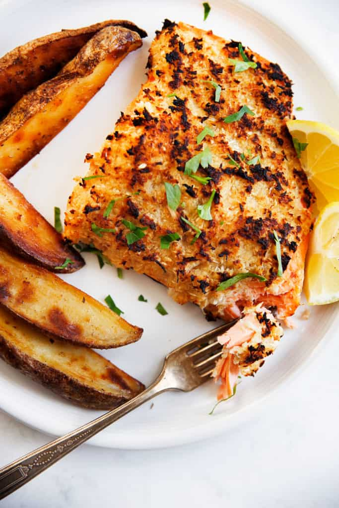 Horseradish salmon.
