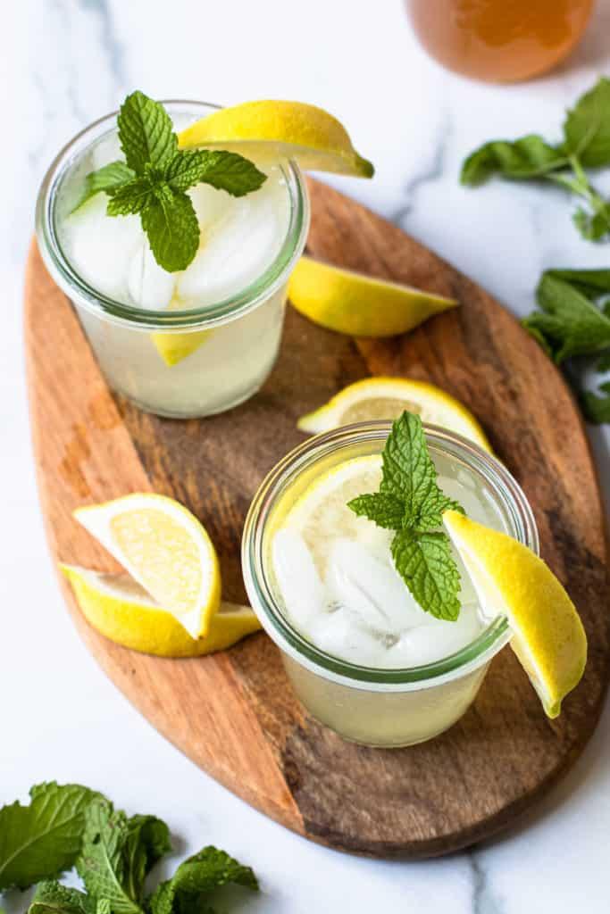 Honey lemon cocktail.