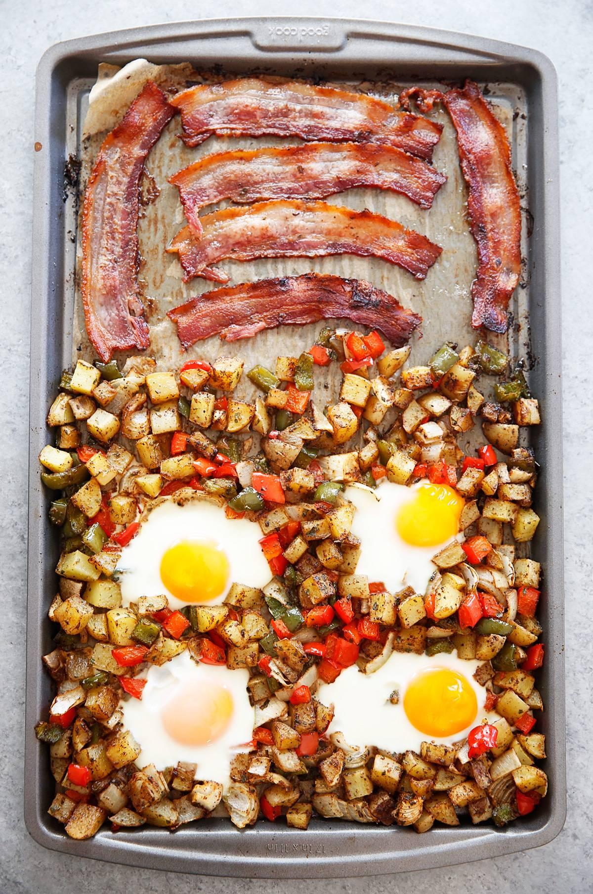 Sheet pan breakfast bake.