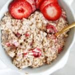 Strawberry overnight oats.