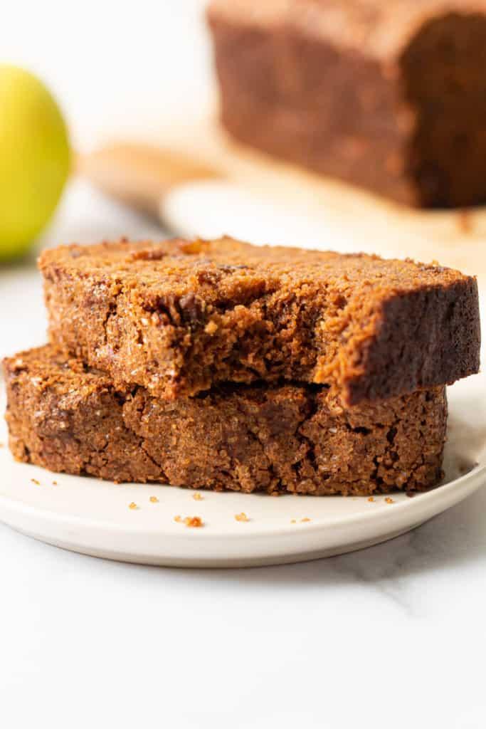 Gluten-free apple bread.