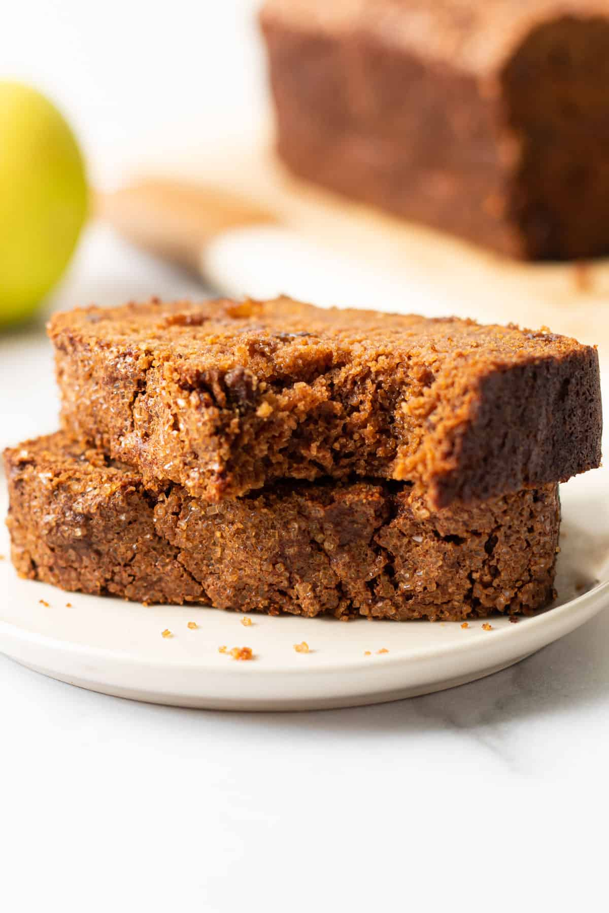 Gluten-free apple bread.