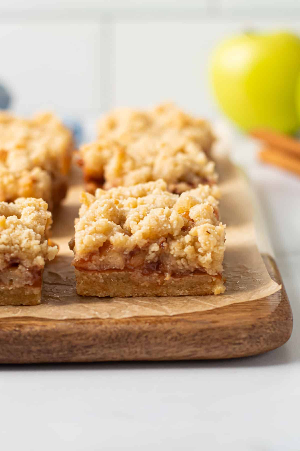 Gluten free apple pie bars.