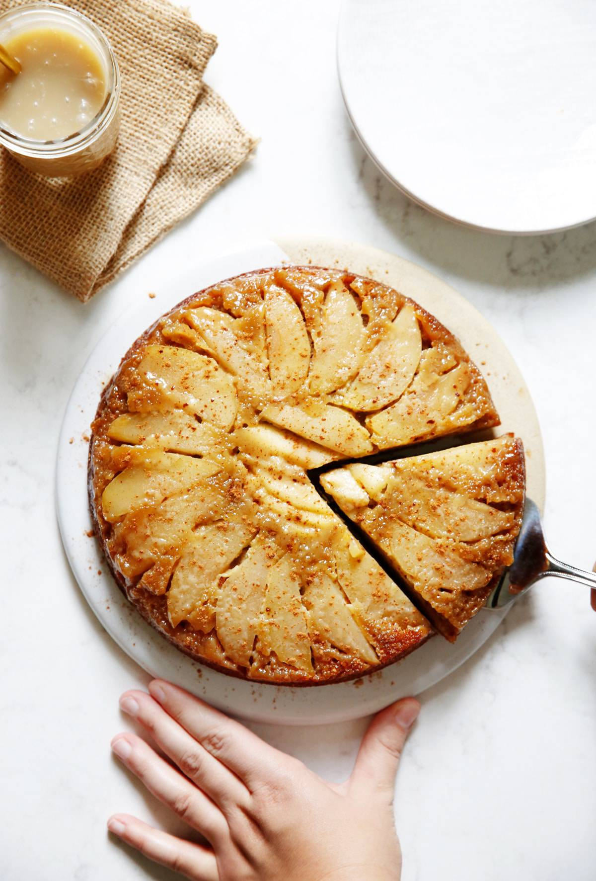 Gluten free honey apple cake.