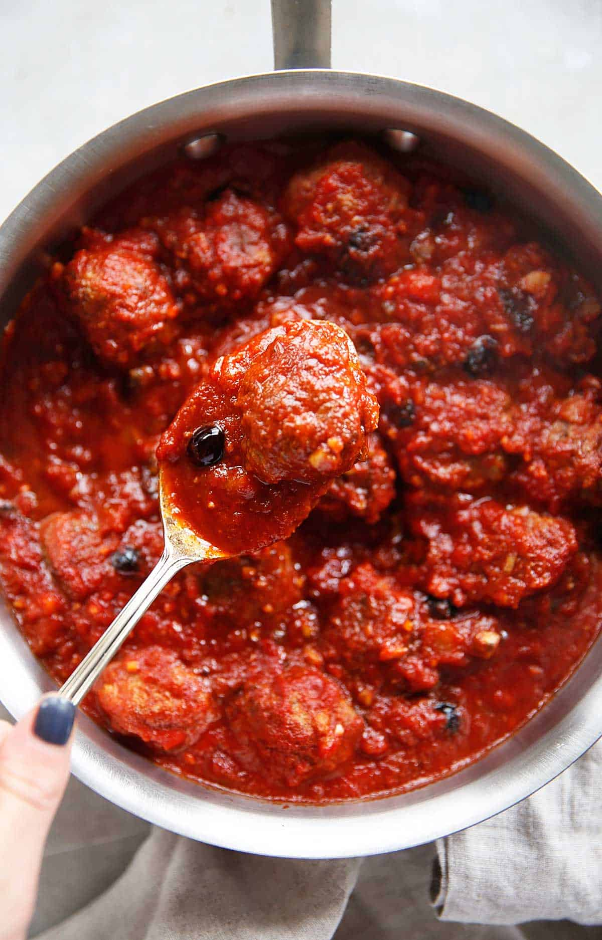 Nanny's sweet and sour meatballs.