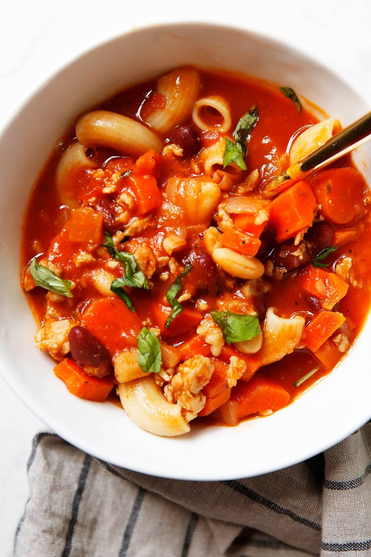 Pasta e Fagioli in a bowl
