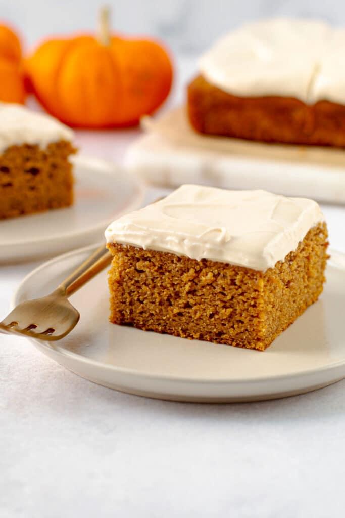 Healthy pumpkin cake.