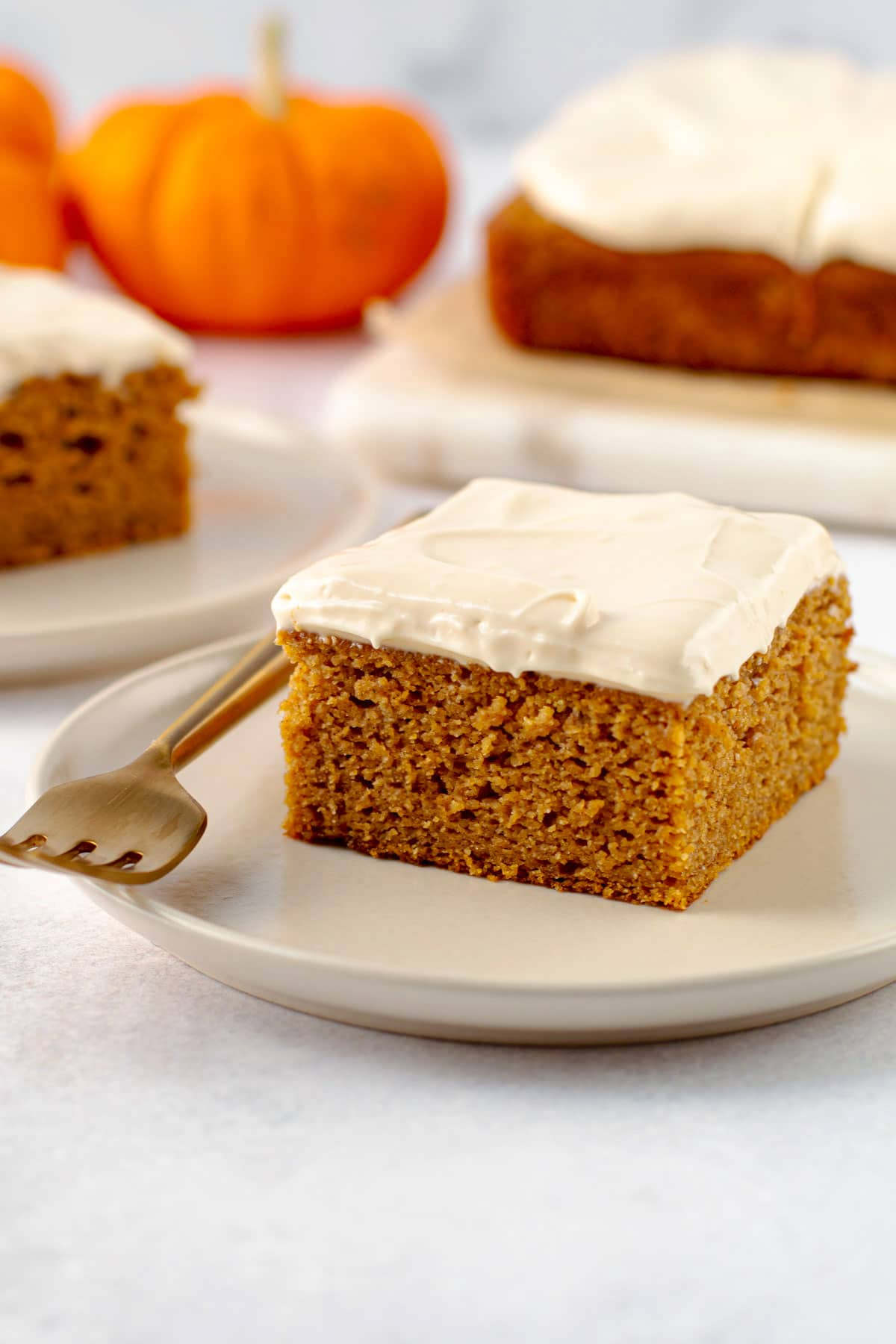 Healthy pumpkin cake.