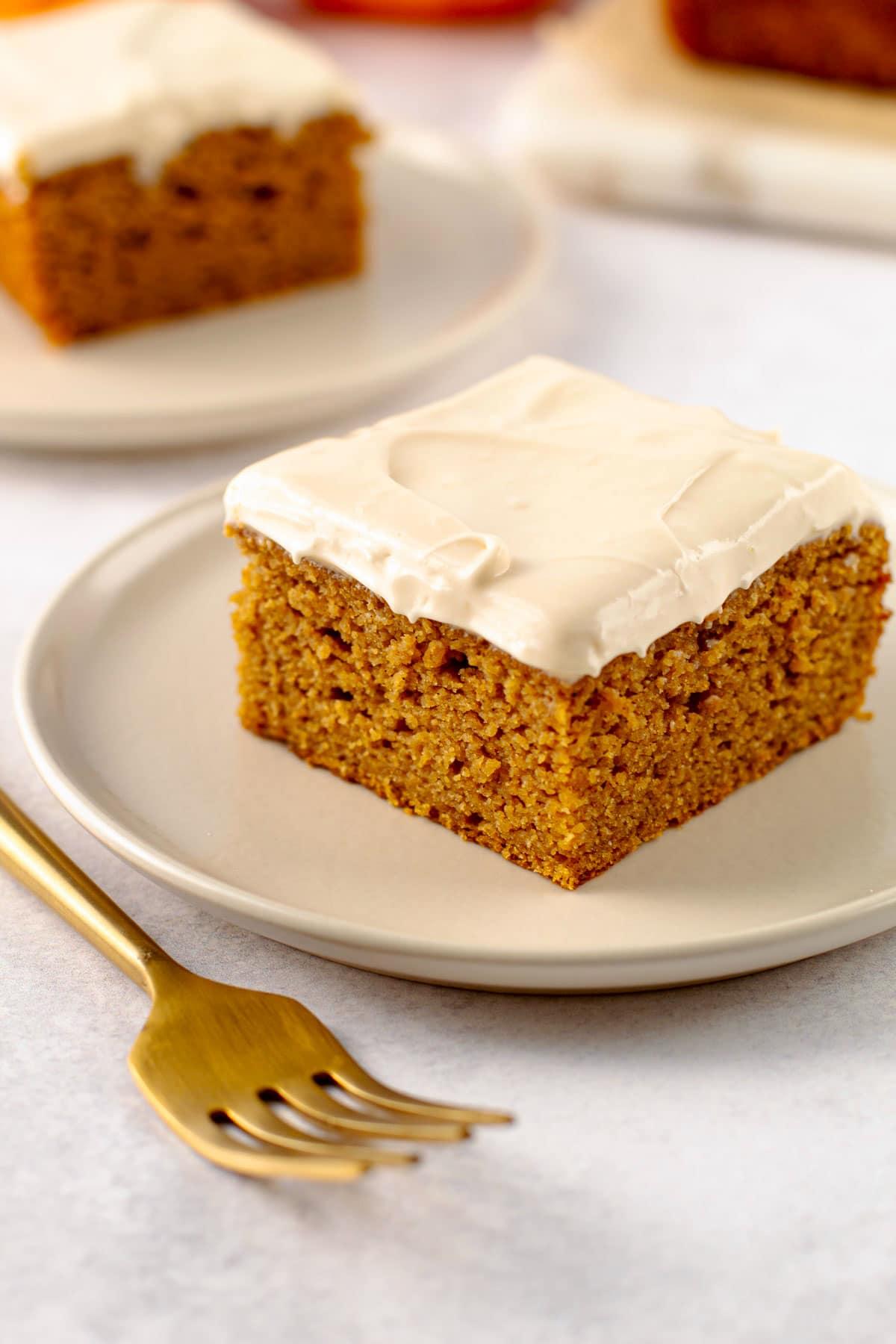 Gluten free pumpkin cake.