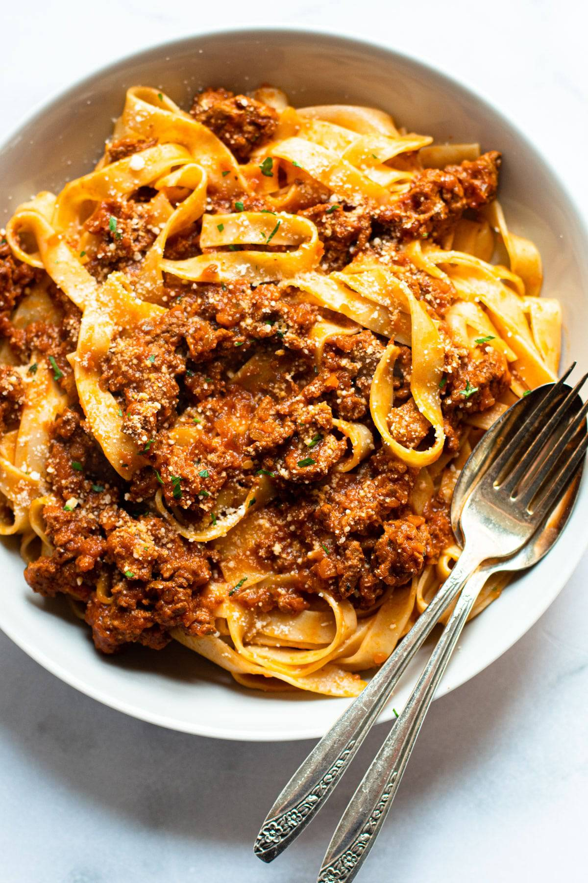 Healthy turkey bolognese.