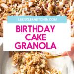 birthday cake granola.