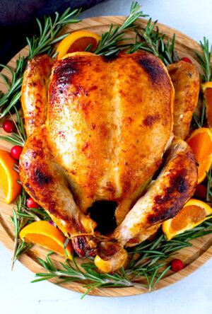 Orange Cranberry Roasted Chicken