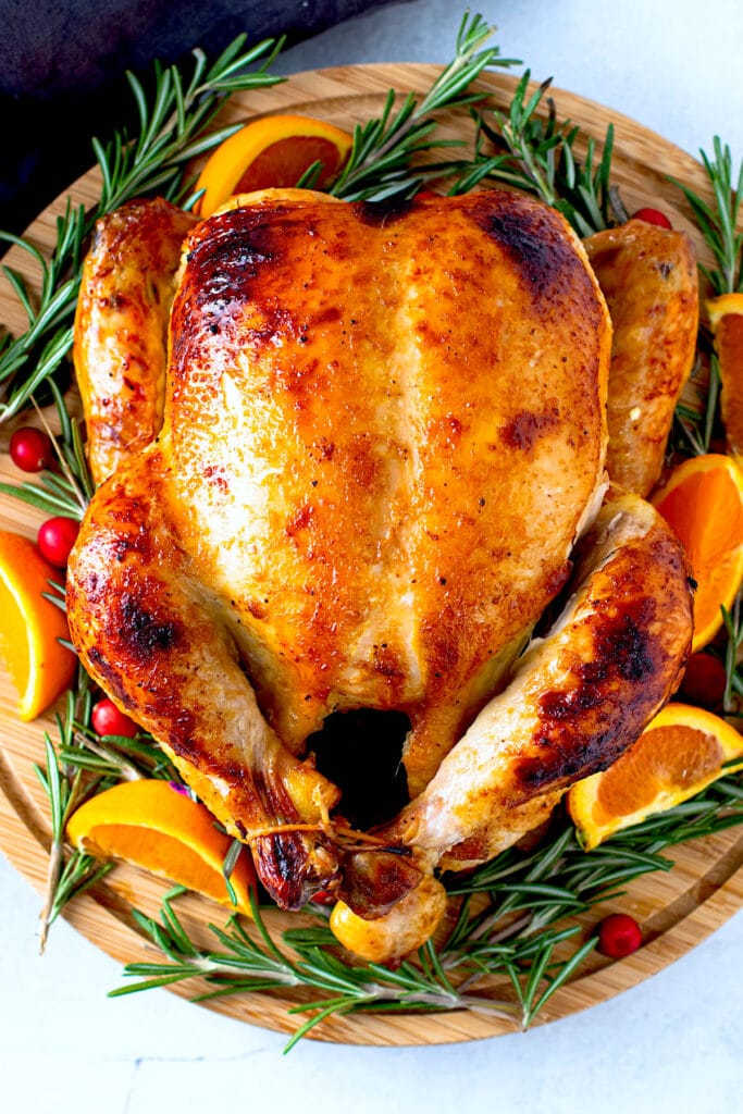 Roasted christmas chicken.