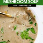 Lightened up Homemade Cream of Mushroom Soup