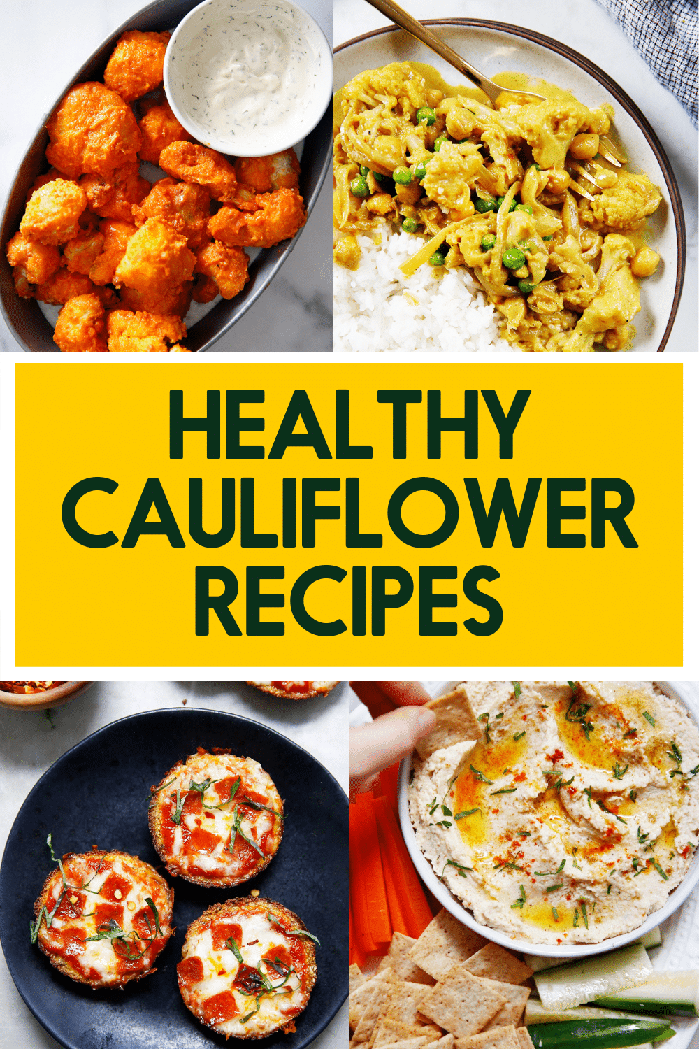 Healthy cauliflower recipes.