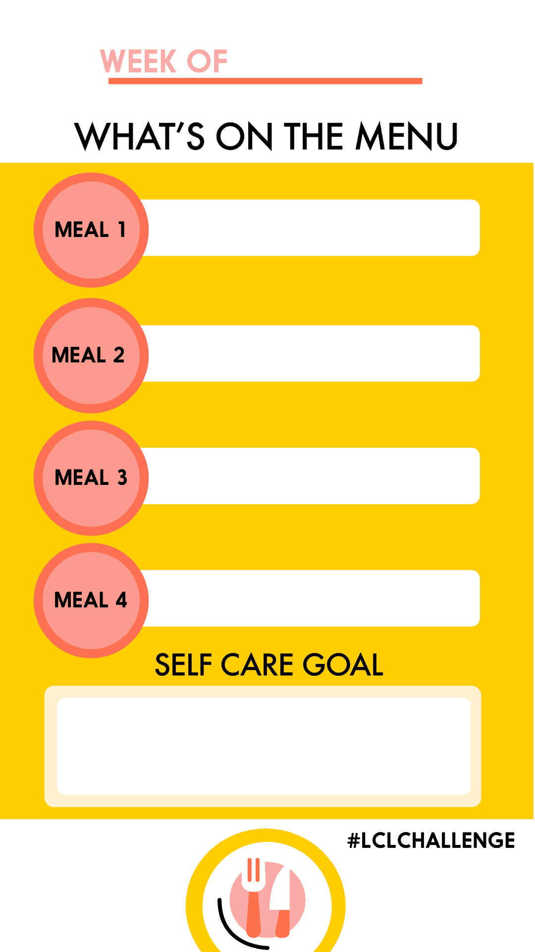 January Meal Planning Challenge Instagram Story TemplateJanuary Meal Planning Challenge Instagram Story Template