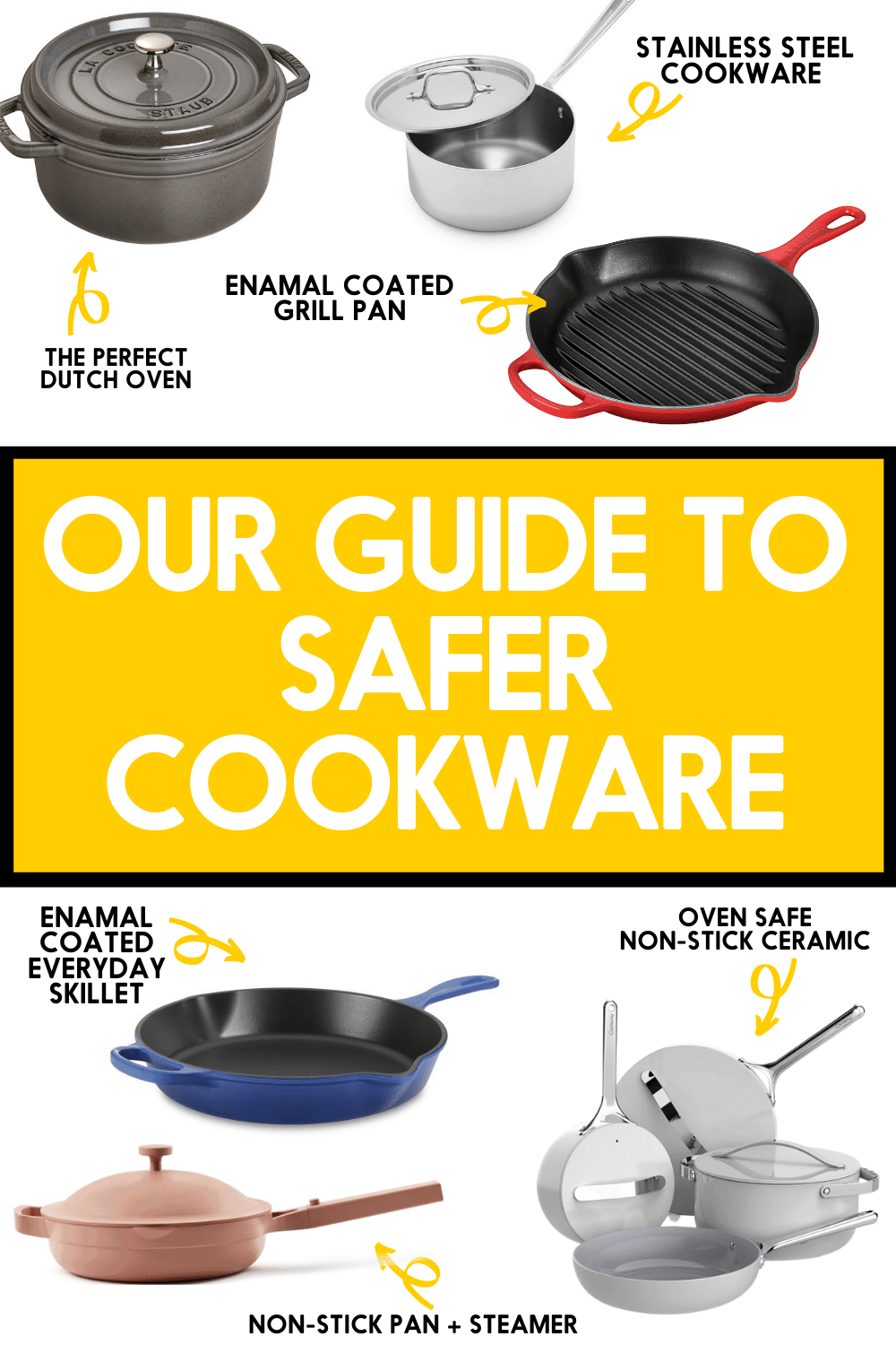 Safer Cookware Guide for Pinterest