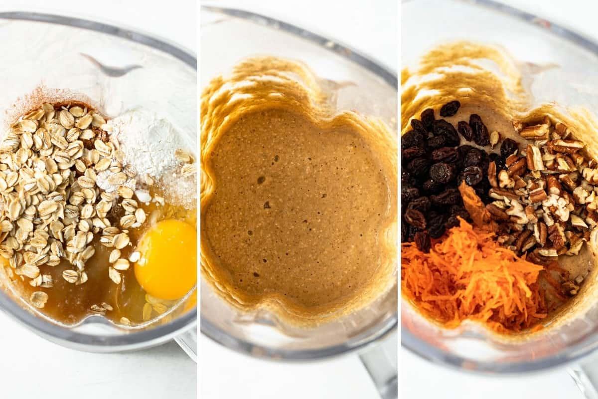 Steps for making baked oats.