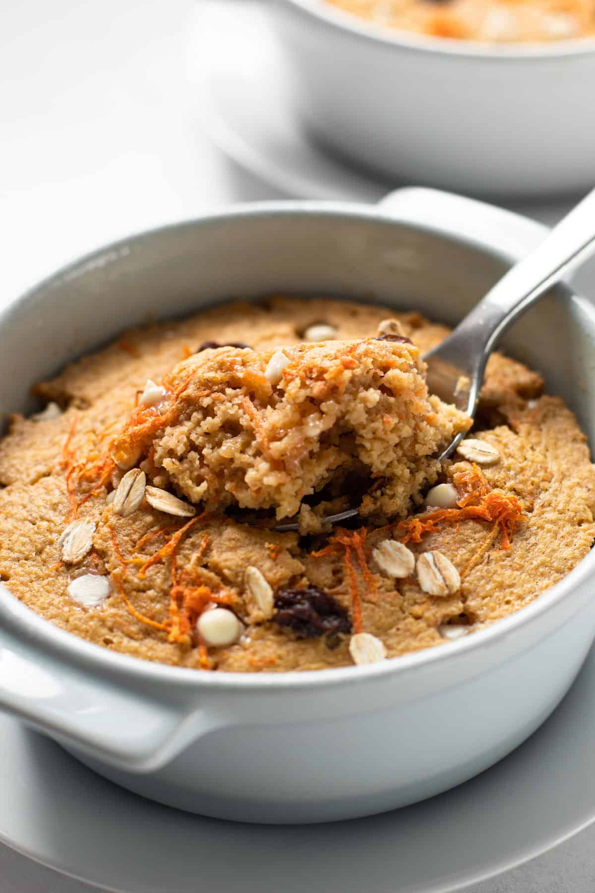 Carrot cake baked oats.