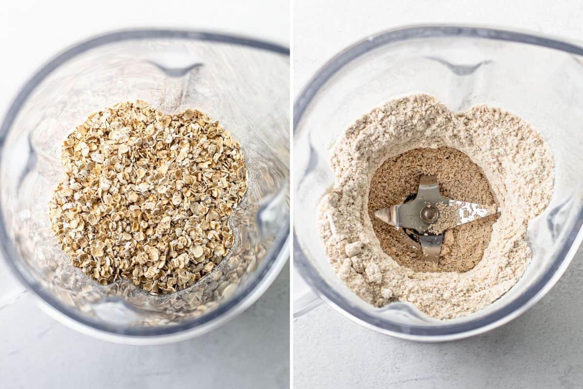 Homemade Oat Flour Prep