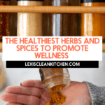 Herbs and spices for wellness.