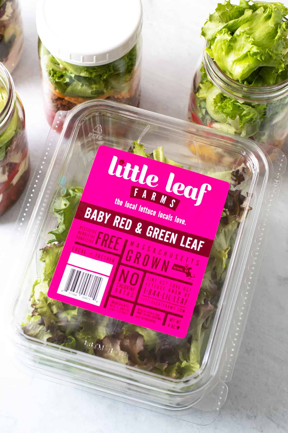 A box of lettuce.