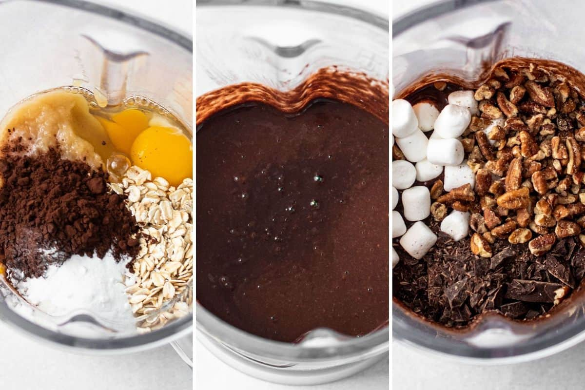 Ingredients for rocky road baked oats.