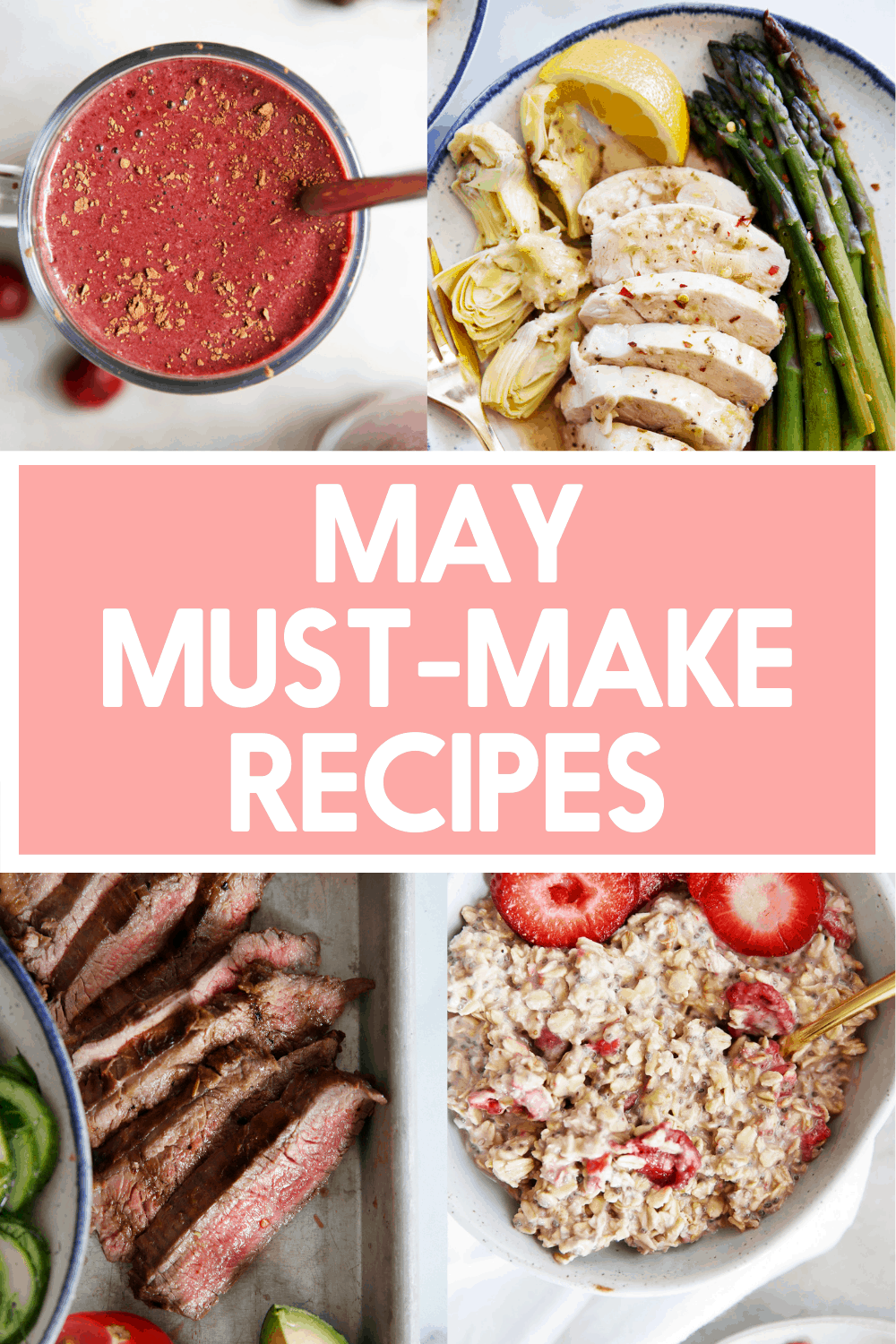 Recipes to make in may.