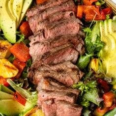 Grilled Steak Salad with Pineapple and Avocado