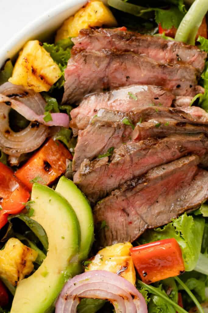 Grilled steak salad.