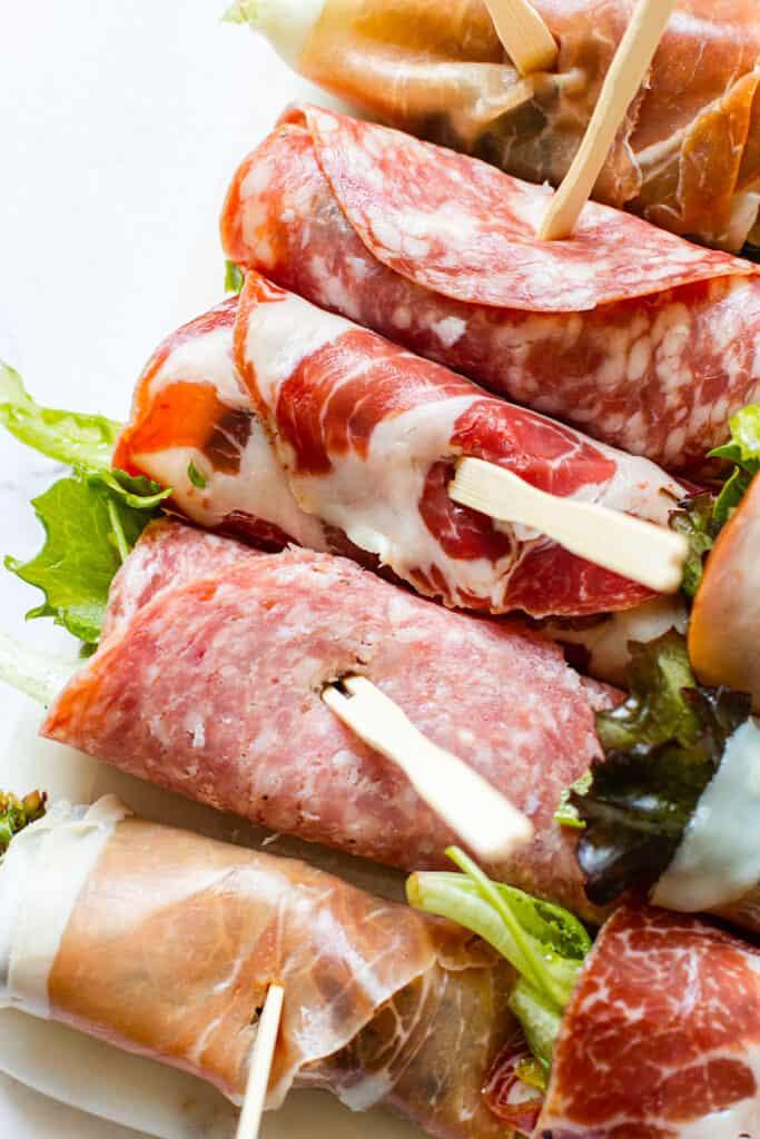 Salad roll ups.