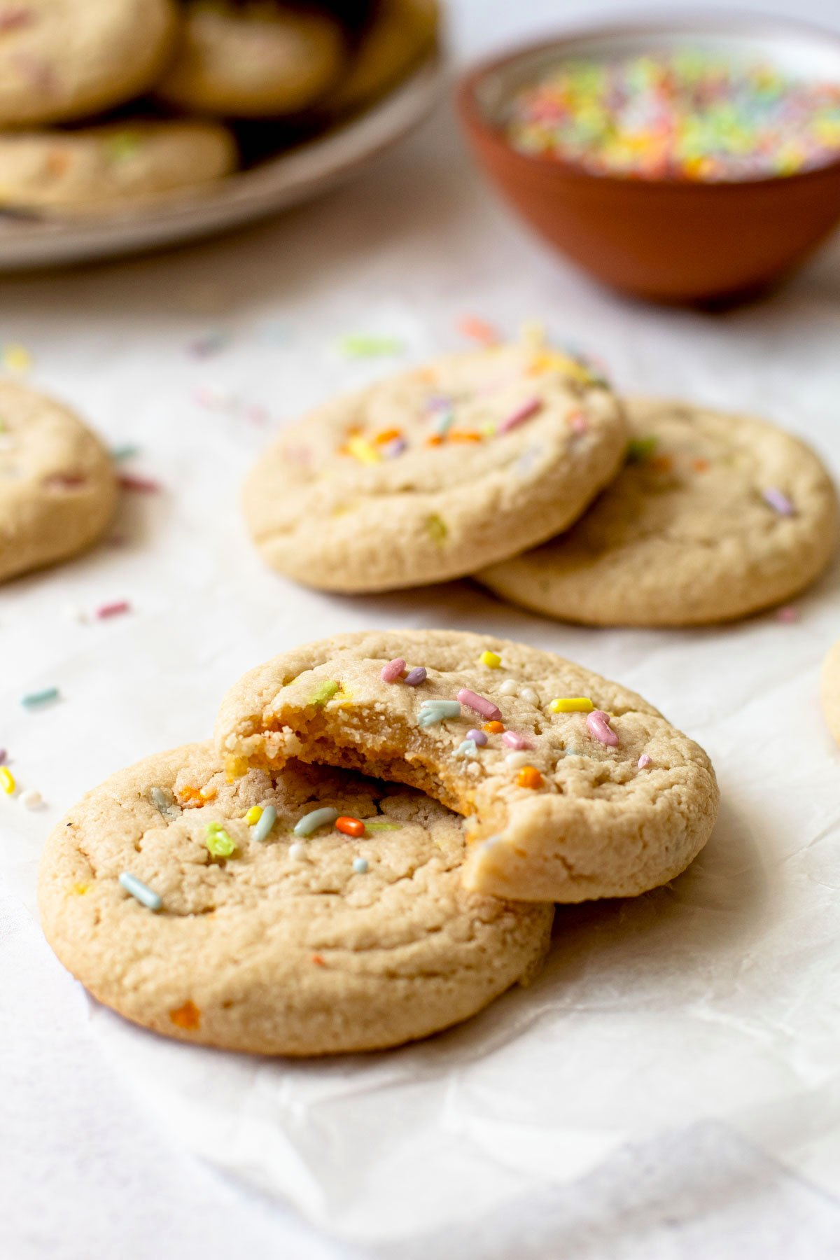 Gluten-Free Funfetti cookies.