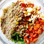 Ingredients for Sweet Potato Quinoa Salad with Kale
